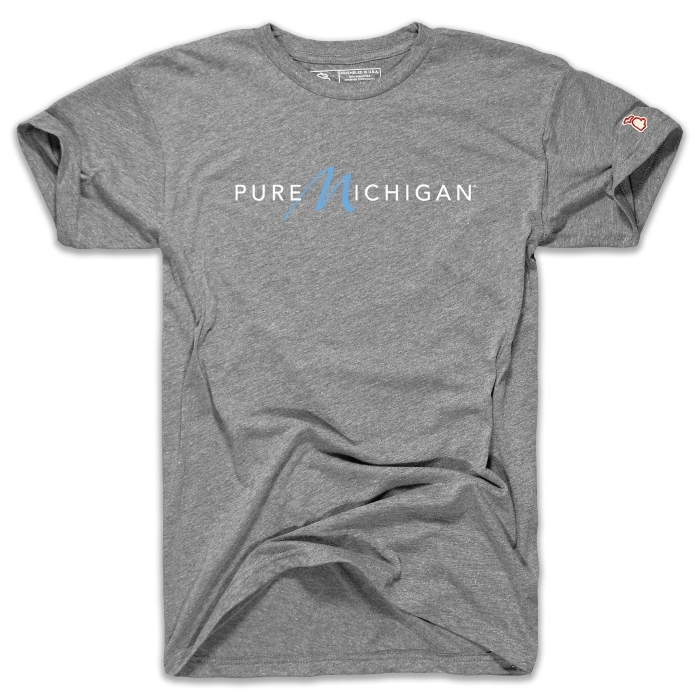 Short sleeved T-Shirt with the Pure Michigan logo.