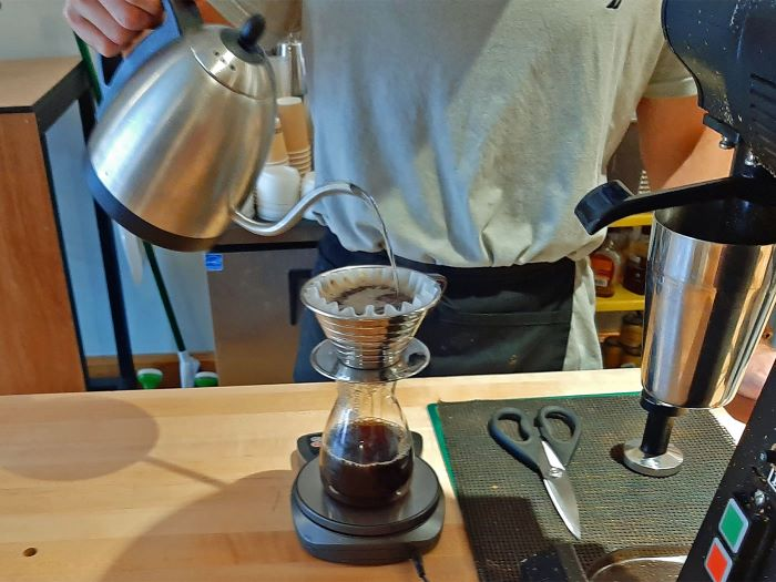 Pour over coffee at Populace Coffee