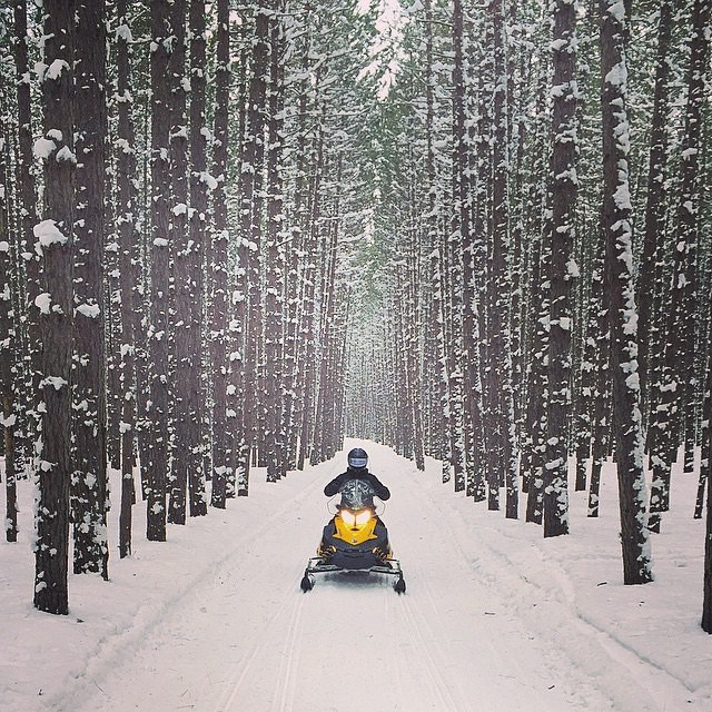 Snowmobiling in Boon